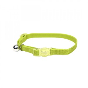 Coastal Safe Cat Nylon Breakaway Collar Lime 3.8inch