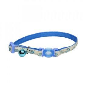 Coastal Safe Cat Glow In The Dark Adj Collar Glowing Blue Fish 3.8inch