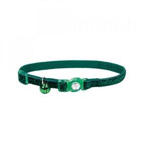 Coastal Safe Cat Jewel Buckle Glitter Overlay Collar Green 3.8inch
