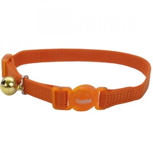 Coastal Safe Cat Nylon Breakaway Collar Sunset Orange 3.8inch