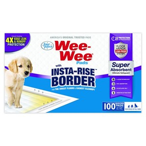 Four Paws Wee-Wee Insta-Rise Border Pad 150g
