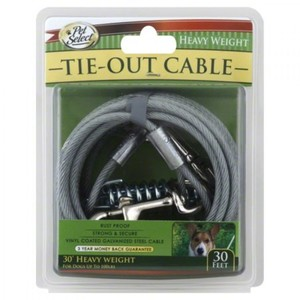 Four Paws Vinyl Coated Steel Cable Dog Tie Out  Heavy Weight 30 Ft. 35g