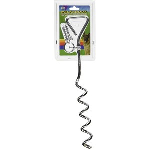 """Four Paws Walk About Spiral Tie Out Stake 19"""" Inches 35g"""