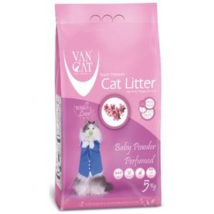 Van Cat White Clumping Bentonite Cat Litter Baby Powder 5kg