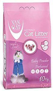 Van Cat White Clumping Bentonite Cat Litter Baby Powder 10kg