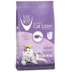 Van Cat White Clumping Bentonite Cat Litter Lavender 10kg
