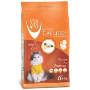 Van Cat White Clumping Bentonite Cat Litter Orange 10kg