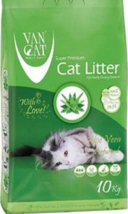 Van Cat White Clumping Bentonite Cat Litter Aloe Vera 10kg
