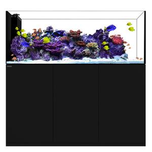Water Box Crystal Peninsula 7225+ Cabinet Black L180cmxW65cmxW60cm
