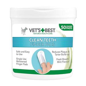 Vetsbest Clean Teeth Finger Pads Dental Wipes 125g