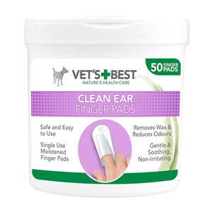 Vets Best Clean Ear Finger Pads 125g