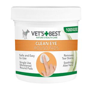 Vets Best Clean Eye Round Pads 125g