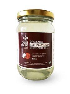Organic Pure And Sure E V Coconut Oil 250ml