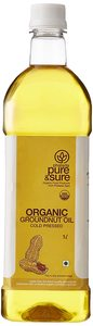 Organic Pure And Sure Ground Nut Oil 1L