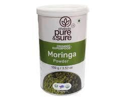 Pure And Sure Org Moringa Powder 100g