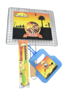 Bbq Grill Meat With Fan & Lighter 1set