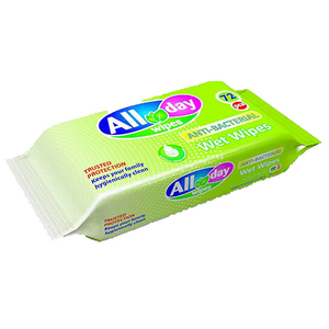 All Day Anti-Becterial Wipes 72pcs