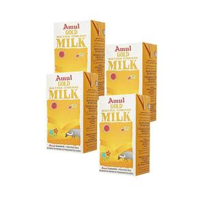 Amul Gold Extra Cream Milk 4x1L
