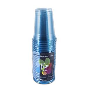 Fun Plastic Tumbler Clear Turquoise 25s