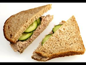Tuna & Cucumber Sandwich 1pc