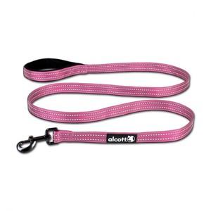 Alcott Reflective Cushioned Handle Dog Leash Large Pink 6ftpc