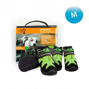 All for Paws All Road Medium Green Dog Boots 4 per pack