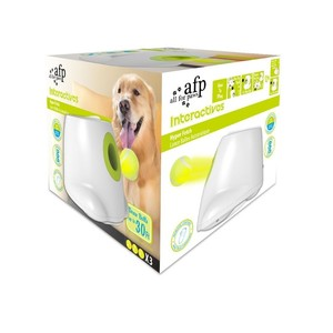 All for Paws Interactives White Maxi Hyper Fetch Ball Launcher Dog Toy 1pack