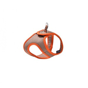 Bobby Arlequin XXS Beige & Orange Mini Dog Harness T-Shirt 1pc