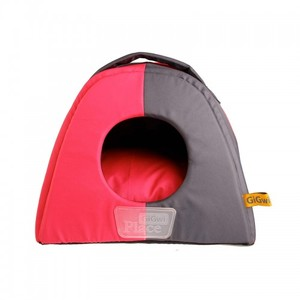 Gigwi Place Large Gray & Pink Dome Shape Pet Bed 45x45x43cm