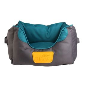 Gigwi Place Small Gray & Teal Pet Bed 47x39x20cm
