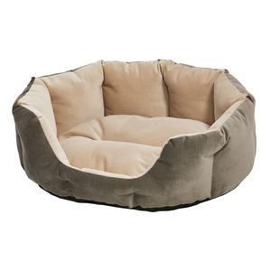 Midwest Small Beige & Brown Pet Bed 68x55x25cm