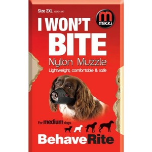 Mikki I Won't Bite Nylon Muzzle for Medium Dogs 2XL