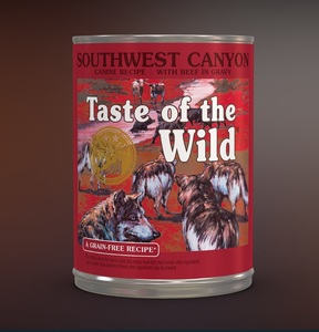 Taste of the Wild Southwest Canyon Wet Dog Food with Beef 390g