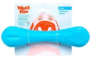 West Paw Zogoflex Hurley Dog Bone Chew Toy Aqua Blue 1pc