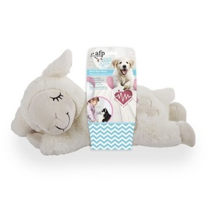 All for Paws Little Buddy White Cotton Heart Beat Sheep Dog Toy 1pc