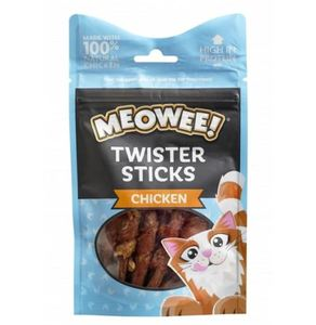 Meowee Twister Sticks Chicken Cat Treats 1pc