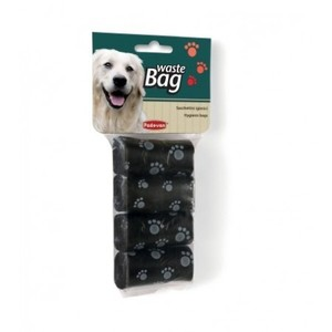 Padovan Black Dog Poop Bags 4x20pcs