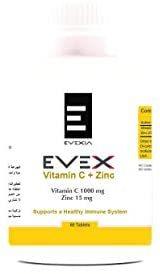 Evex Vitamin C 100Mg + Zinc 15Mg 60s