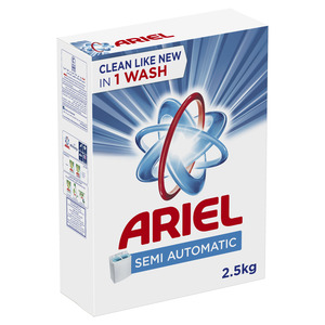 Ariel Blue Detergent Powder 2x2.5kg