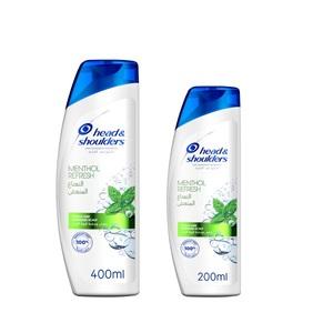 Head & Shoulders Menthol Refresh 2In1 Anti-Dandruff Shampoo 400ml+200ml