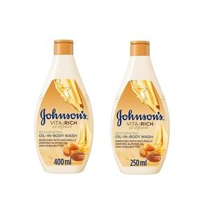 Johnson's Body Wash Vita-Rich Oil Infusion 400ml+200ml