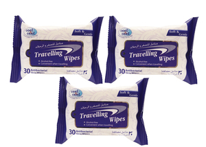Cool & Cool Travelling Wipes 3x30s