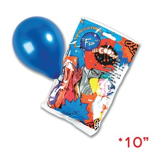 Fun 10 Metallic Balloons 18s