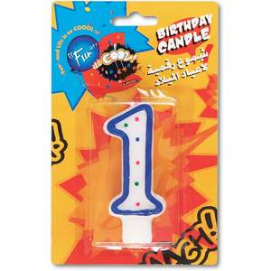 Fun Birthday Candle N0.1 15x9.5x1.8cm 1pc