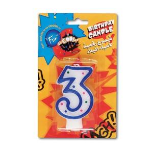 Fun Birthday Candle N0.3- 15x9.5x1.8cm 1pc