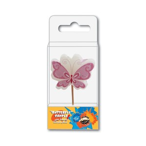Fun Birthday Butterfly Candle 10x5x2.2cm 1pc