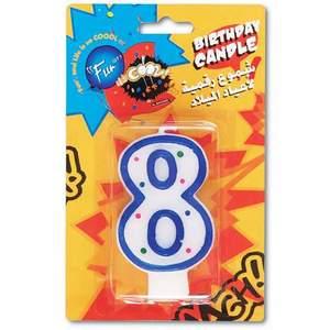 Fun Birthday Candle N0.8- 15x9.5x1.8cm 1pc