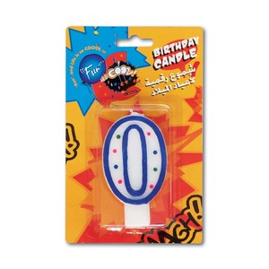 Fun Birthday Candle N0.0- 15x9.5x1.8cm 1pc