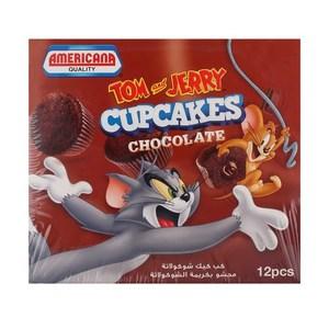 Americana Tom & Jerry Cup Cake Chocolate 12x35g