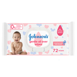 Johnson's Baby Wipes Gentle All Over 6x72s